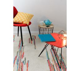 poils courts graphique COLORA Tapis 160x230 cm à multicolore
