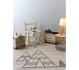 TENKA Tapis enfants 120x170 cm tissé plat motif indien