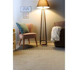 tissé plat beige ELUSA tapis 160x230 cm et brun