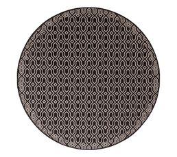 Tapis rond D.160 cm MAROCO Noir