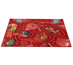 WORLD OF CARS II Tapis 95x133 cm rouge
