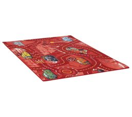 Tapis 95x133 cm WORLD OF CARS II rouge