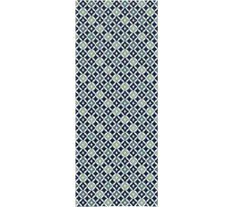 Tapis 80x200 CARO Gris bleu