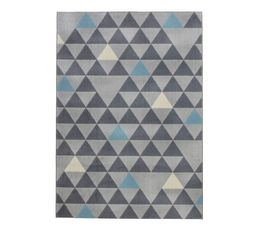 tapis 120x170 geo gris bleu tapis but. Black Bedroom Furniture Sets. Home Design Ideas
