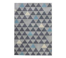 GEO Tapis 120x170 Gris / Bleu