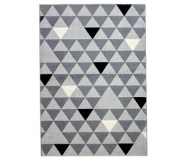 Tapis 120x170 GEO Gris / Noir