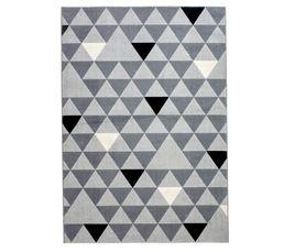 Tapis 160x230 GEO Gris / Noir