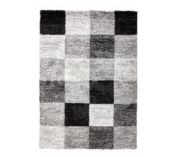 Tapis 133x180 cm KARO Noir / Gris