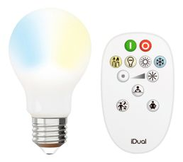 Kit ampoule LED standard E27 iDual Opale