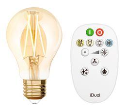 Kit ampoule LED standard E27 iDual Ambre
