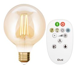 Kit Ampoule LED globe G95 E27 iDual Ambre