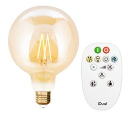Kit ampoule LED globe G125 E27 iDual Ambre