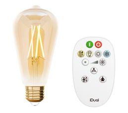 Kit ampoule Edison ST64 E27 iDual Ambre