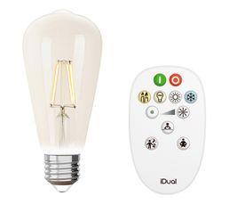 Kit ampoule Edison ST64 E27 iDual Transparent