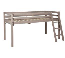 lit mi hauteur 90x190 cm happy gris. Black Bedroom Furniture Sets. Home Design Ideas