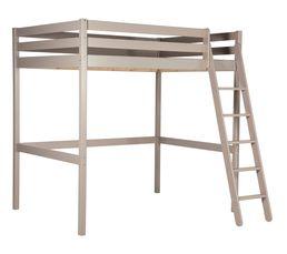 Lit mezzanine 140x190 cm HAPPY gris But