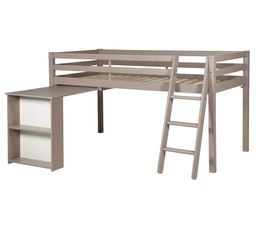 HAPPY Bureau extensible lit mi-haut Gris