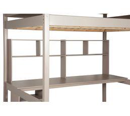 Bureau 190 cm et étagères HAPPY 82-50104 - 45 gris