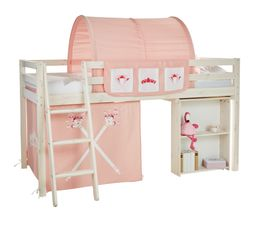 Lot de 3 rideaux HAPPY rose Princesse