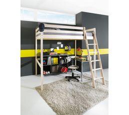 Lit mezzanine 90x190 cm HAPPY 2 80-13504-2  Blanc