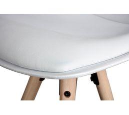Tabouret de bar H.77 cm OSLO 95673-2 blanc