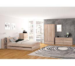 Commode 2x3 tiroirs BEST imitation chêne grisé