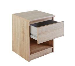 Chevet 1 tiroir 1 niche BEST imitation chêne