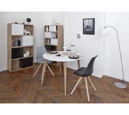 Table ronde OSLO Blanc/chêne