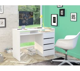 bureau droit best lak blanc laqu bureaux but. Black Bedroom Furniture Sets. Home Design Ideas