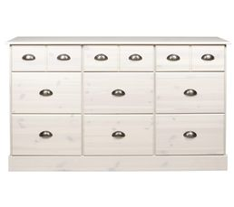 enfilade 9 tiroirs nola blanc