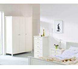 ORNELLA Armoire 3 portes blanc