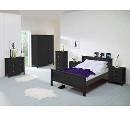 Lit 140x190 cm ORNELLA noir