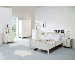 Lit 160x200 cm ORNELLA blanc