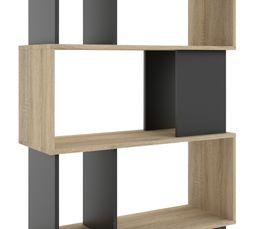 Bibliothèque L. 80 cm CLASS Imitation chêne/noir