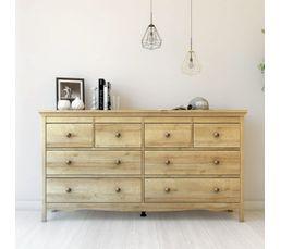 Commode 2x4 tiroirs Silkeborg  imitation chêne