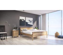 Lit 160x200 cm Silkeborg imitation chêne