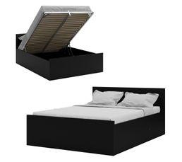 Lit coffre 140x190 cm BEST LAK noir mat
