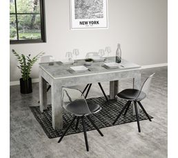 table de s jour extensible thor b ton tables but. Black Bedroom Furniture Sets. Home Design Ideas