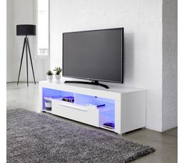 Meuble Tv Goal Blanc Meubles Tv But # Meuble Tv Barre De Son Integree