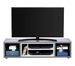 Meuble TV design LED SHADES Gris