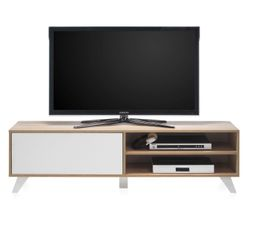 Meuble Tv Scandinave Hygge Sonoma Et Blanc Meubles Tv But # Meuble Tv Angle Scandinave