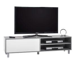 Meuble TV BITUM Béton et blanc