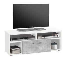 meuble tv booster b ton et blanc meubles tv but. Black Bedroom Furniture Sets. Home Design Ideas