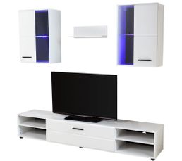 Meuble télé design LED LUXOR Blanc