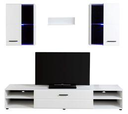 Meuble Télé Design Led Luxor Blanc Meubles Tv But