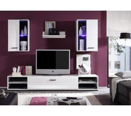 Meuble télé design LED LUXOR Blanc