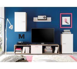 Meuble T L 4 L Ments Days Blanc Et Ch Ne Meubles Tv But # Meuble Ancien Pour Tv Mural