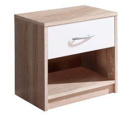 Un chevet aux dimensions idéales qui s'intégrera facilement dans votre chambre à coucher ! Doté d'un tiroir et d'une niche, ce chevet offre un espace de rangement bien optimisé On aime : ses couleurs tendances ! Dispo pcs détachées donnée fournisseur : NC