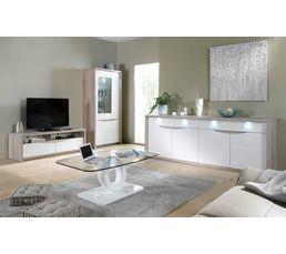 Meuble Tv St Tropez Blanc Ch Ne Meubles Tv But # Meuble Blanc Et Chene