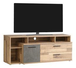 Meuble TV GAIA Imitation bois et béton